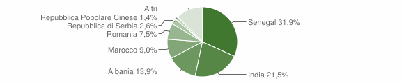 Grafico cittadinanza stranieri - Villongo 2018