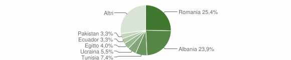 Grafico cittadinanza stranieri - Bereguardo 2019