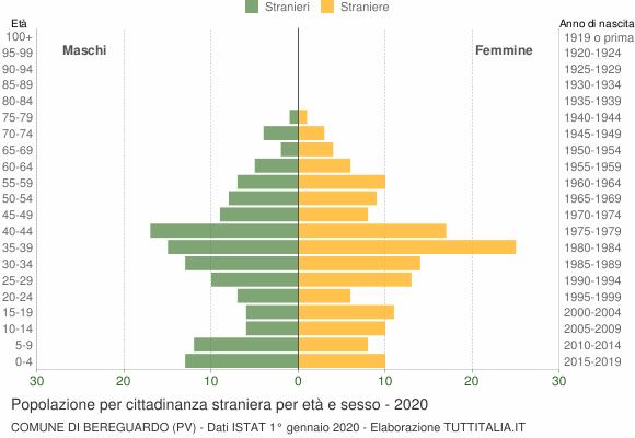 Grafico cittadini stranieri - Bereguardo 2020