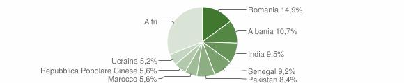 Grafico cittadinanza stranieri - Flero 2019
