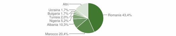 Grafico cittadinanza stranieri - Guardamiglio 2019