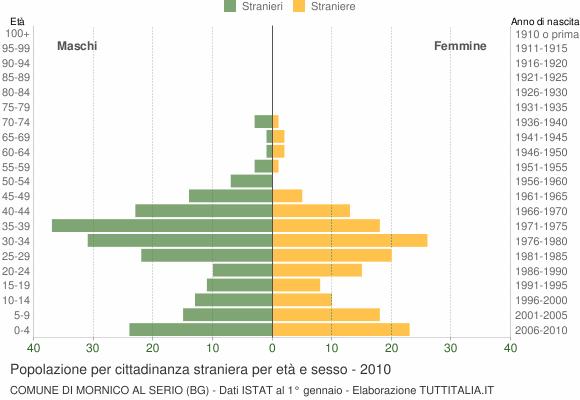 Grafico cittadini stranieri - Mornico al Serio 2010