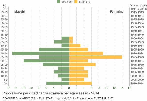 Grafico cittadini stranieri - Niardo 2014