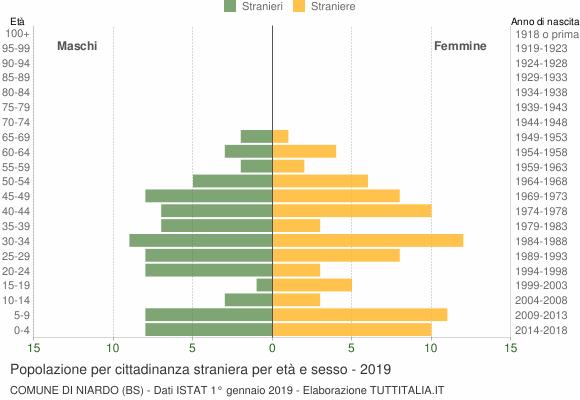 Grafico cittadini stranieri - Niardo 2019