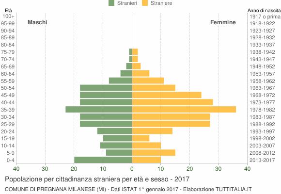 Grafico cittadini stranieri - Pregnana Milanese 2017