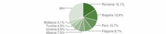 Grafico cittadinanza stranieri - Rodano 2019