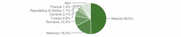 Grafico cittadinanza stranieri - Bienno 2010