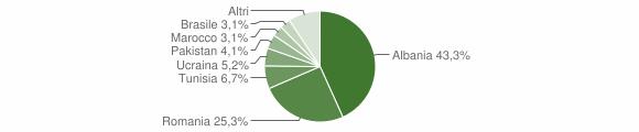 Grafico cittadinanza stranieri - Bienno 2019