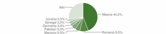 Grafico cittadinanza stranieri - Puegnago del Garda 2011