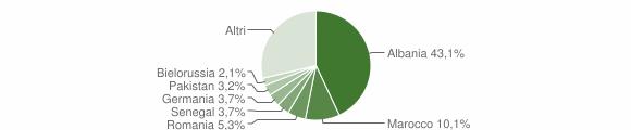 Grafico cittadinanza stranieri - Puegnago sul Garda 2008