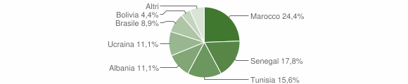 Grafico cittadinanza stranieri - Fonteno 2011