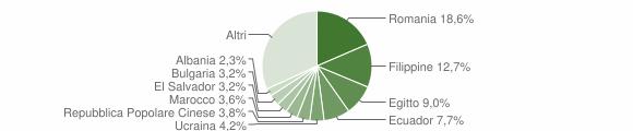 Grafico cittadinanza stranieri - Peschiera Borromeo 2019
