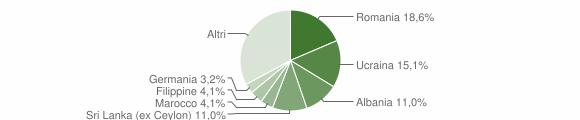 Grafico cittadinanza stranieri - Azzate 2019
