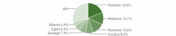Grafico cittadinanza stranieri - Caino 2018