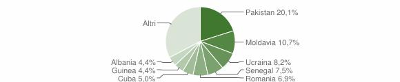 Grafico cittadinanza stranieri - Caino 2019