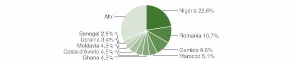 Grafico cittadinanza stranieri - Camparada 2019