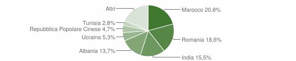 Grafico cittadinanza stranieri - Endine Gaiano 2019