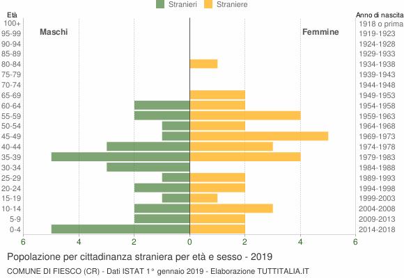 Grafico cittadini stranieri - Fiesco 2019