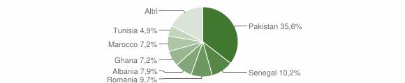 Grafico cittadinanza stranieri - Lumezzane 2009