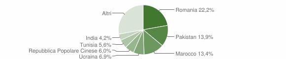 Grafico cittadinanza stranieri - Ome 2008