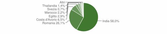 Grafico cittadinanza stranieri - San Daniele Po 2015