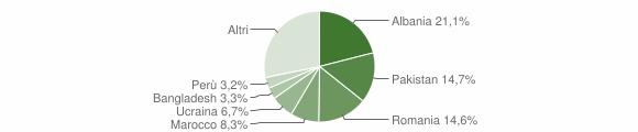 Grafico cittadinanza stranieri - Seveso 2016