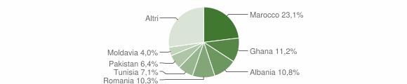 Grafico cittadinanza stranieri - Travagliato 2010