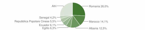 Grafico cittadinanza stranieri - Agrate Brianza 2019