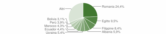 Grafico cittadinanza stranieri - Gorgonzola 2019