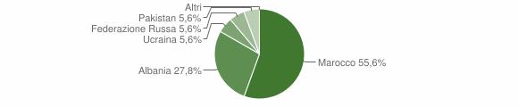 Grafico cittadinanza stranieri - Capovalle 2010