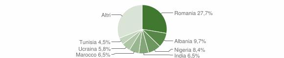 Grafico cittadinanza stranieri - Monticelli Pavese 2019