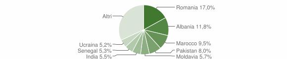 Grafico cittadinanza stranieri - Rodengo Saiano 2019