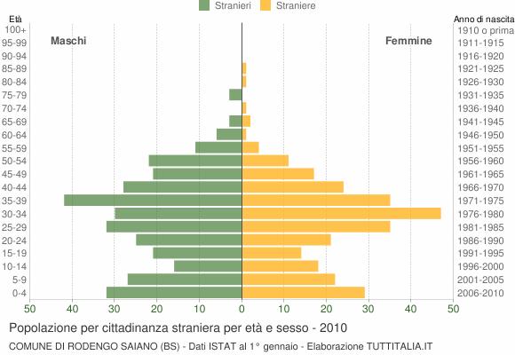 Grafico cittadini stranieri - Rodengo Saiano 2010