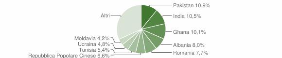 Grafico cittadinanza stranieri - Botticino 2010