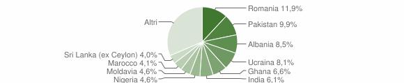 Grafico cittadinanza stranieri - Botticino 2019