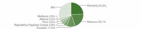 Grafico cittadinanza stranieri - Burago di Molgora 2019