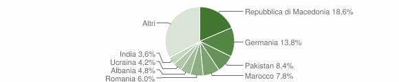 Grafico cittadinanza stranieri - Soiano del Lago 2007