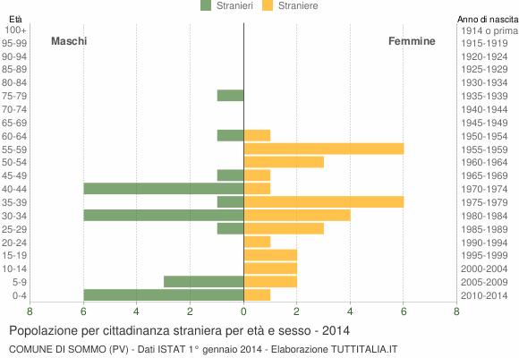 Grafico cittadini stranieri - Sommo 2014
