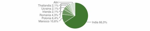 Grafico cittadinanza stranieri - Volongo 2019