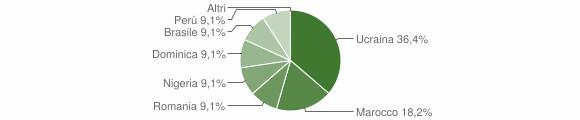 Grafico cittadinanza stranieri - Cimbergo 2010