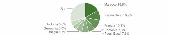 Grafico cittadinanza stranieri - Monvalle 2019