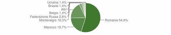 Grafico cittadinanza stranieri - Braone 2010
