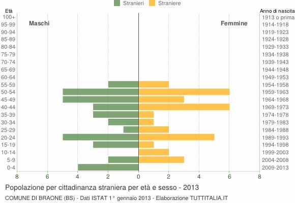Grafico cittadini stranieri - Braone 2013