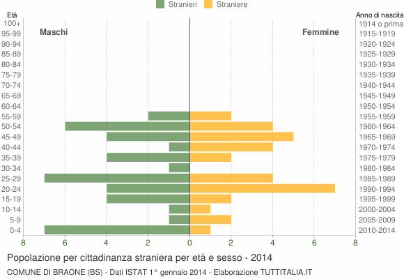 Grafico cittadini stranieri - Braone 2014