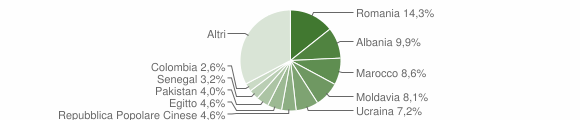 Grafico cittadinanza stranieri - Desenzano del Garda 2015