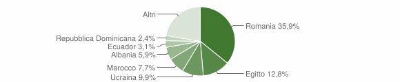 Grafico cittadinanza stranieri - Rosate 2019