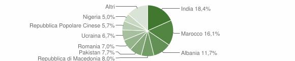 Grafico cittadinanza stranieri - Acquanegra sul Chiese 2019