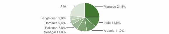Grafico cittadinanza stranieri - Maclodio 2009