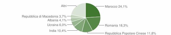 Grafico cittadinanza stranieri - Medole 2019