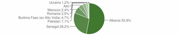 Grafico cittadinanza stranieri - Mura 2005